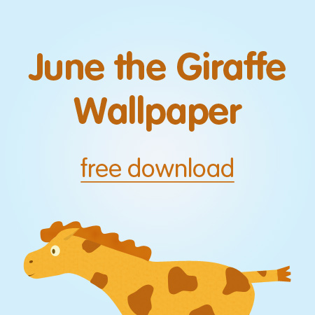 June the Giraffe Wallpaper